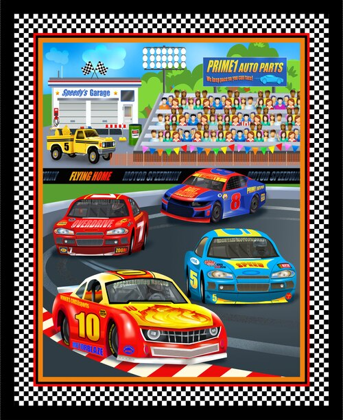 Start Your Engines - Race Track Banner Panel