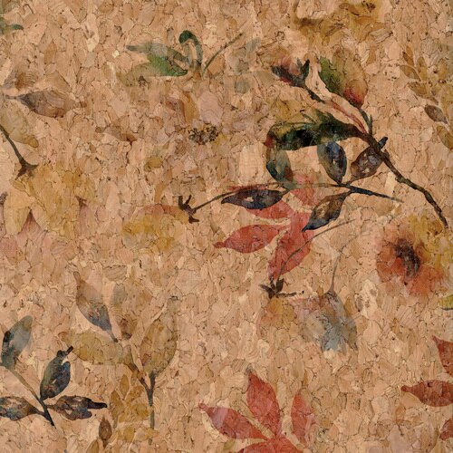 Belagio Cork Fabric - Large Floral Riv-CK2105-04 26