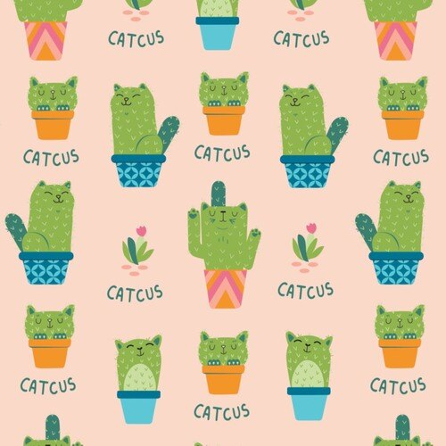 Very Punny Cactus Pink
