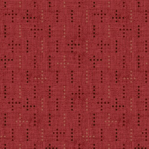 Tickled Pink Dot Weave Red