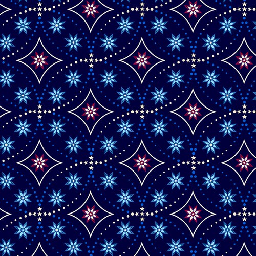 Land That I Love  Bandana Stars Navy 2263/77