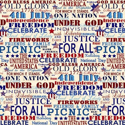 Cream Patriotic Words