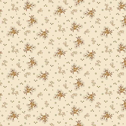Midwest Textiles  - Buttermilk Autumn - Minin Floral - Cream - GLA-2274/33