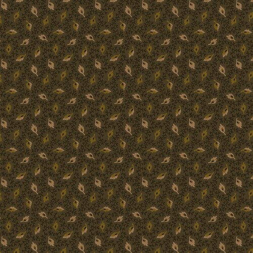BUTTERMILK AUTUMN GREEN WITH TAN LEAVES 2279-66