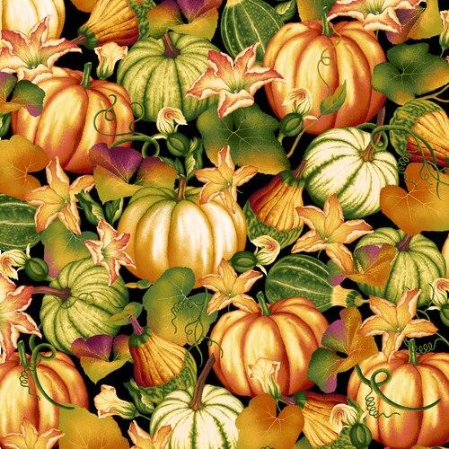Henry Glass Autumn Time Pumpkin Patch