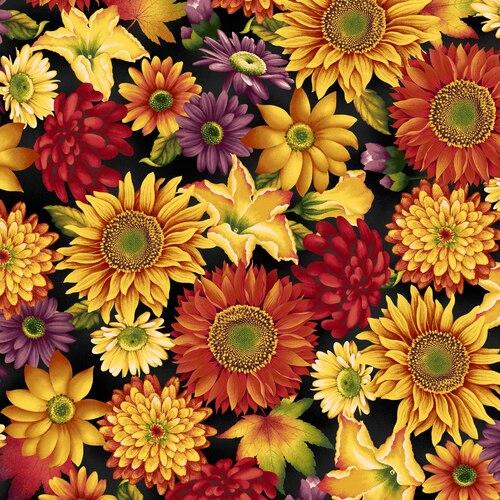 Henry Glass Autumn TimeLarge Floral