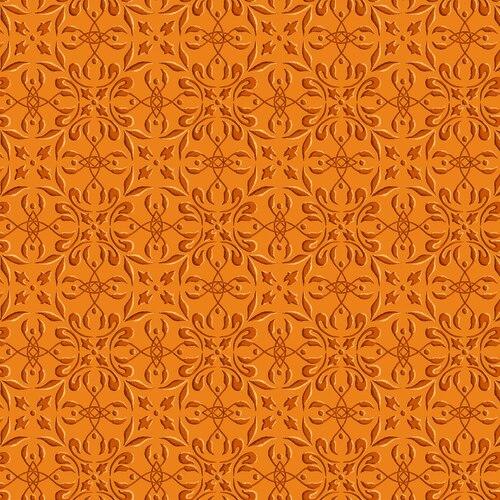 Henry Glass Autumn Time Tile Orange