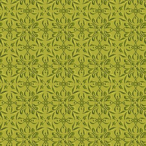 Henry Glass Autumn Time Tile  Green
