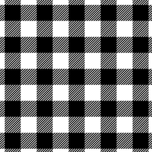 Buffalo Plaid Black/White (Flannel)