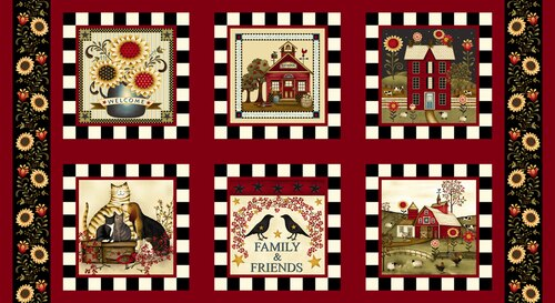 COUNT YOUR BLESSINGS NOVELTY BLOCKS RED