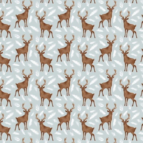 CAMELOT WINTER WOODS DEER GRT