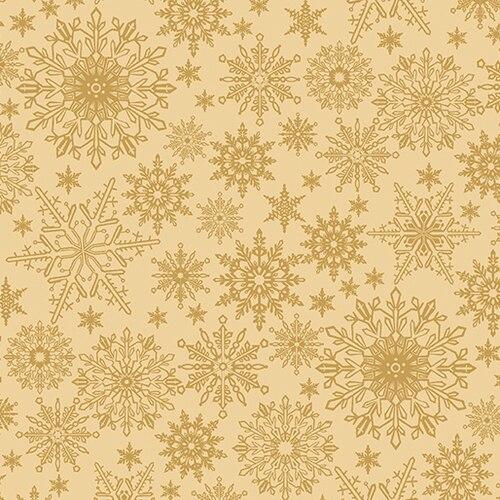 Benartex A Festive Season Tonal Snowflakes Tan  2649/30