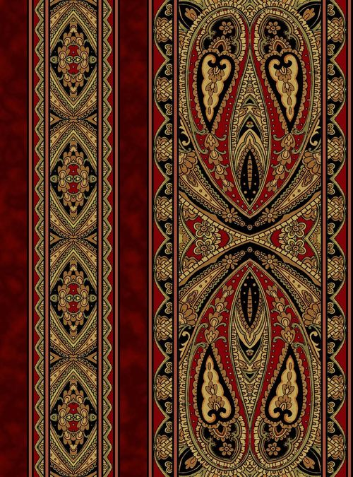 1yd Casablanca-Border/Mini Border-Sienna by Jinny Beyers for RJR Fabrics 36 x 44