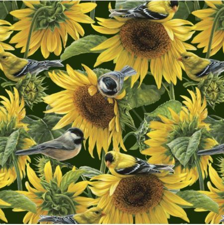Sunflowers & Birds Multi 3052-5C-1