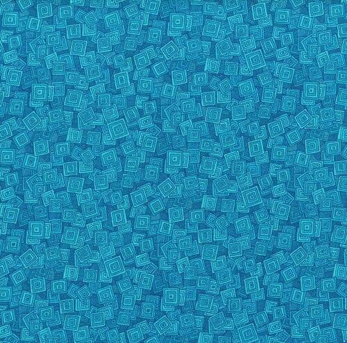 Hopscotch - Overlapping Squares - Aqua