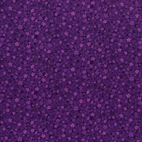 Hopscotch from RJR Fabrics #3220-005- Grape Flowers