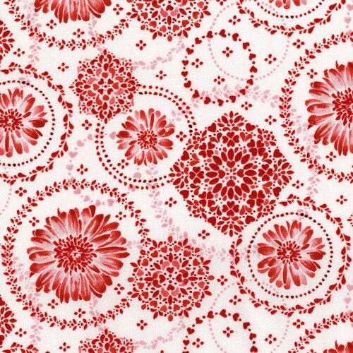Sugar Berry Medallion Metallic Red