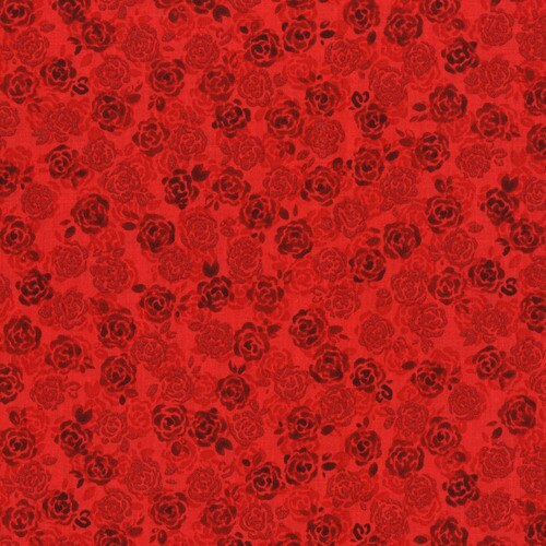 Sugar Berry Small Floral Metallic Red