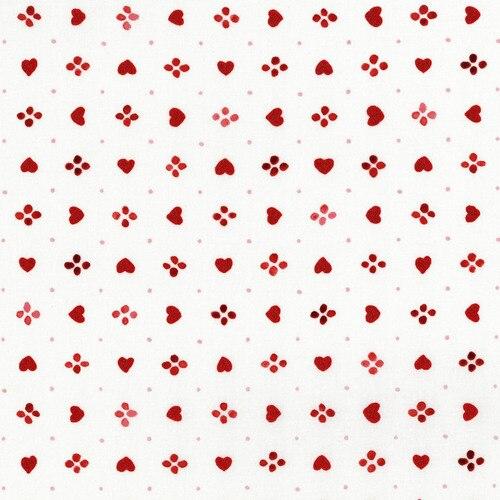 Sugar Berry Heart Metallic White/Red