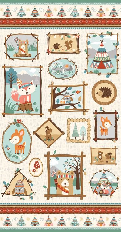 CAMP-A-LONG CRITTERS SMALL PANEL