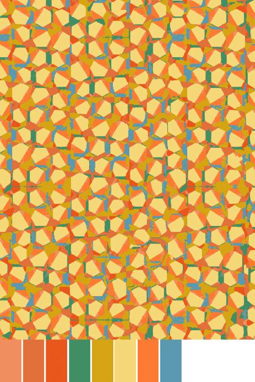 Victoria Findlay Wolfe - Wild Acres - Pebbles - Yellow