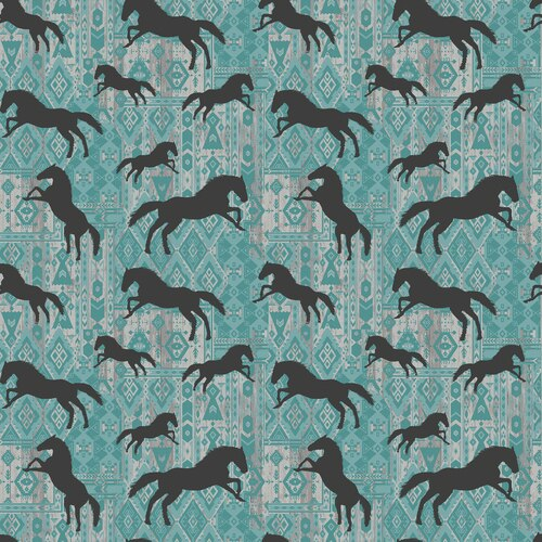 Born To Run<br>Horse Silhouettes Turq. - 4165-80