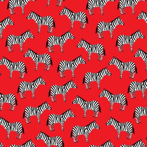 Zebras on Red:  Little Explorers by Sarah Frederking for Studio E Fabrics