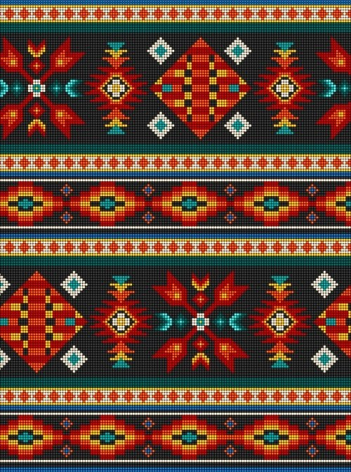 First Nations Prints - Beaded Tuscon