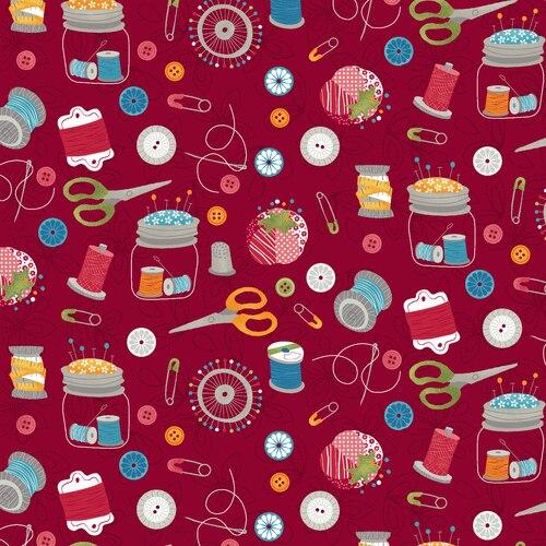 Crafty Studio  Red Sewing Essentials