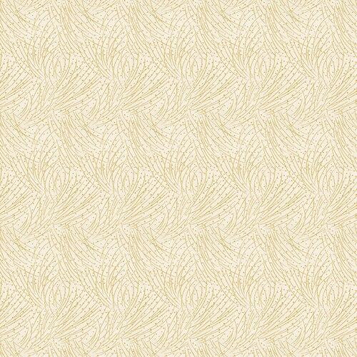 Benartex Aumtum Leaves Cream w/Gold Metalic