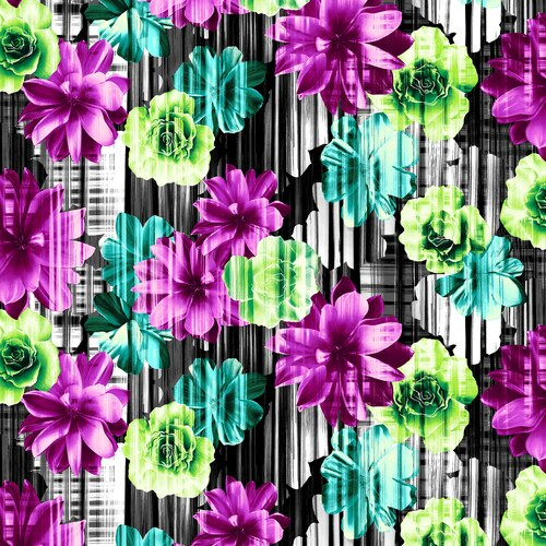 BEAUTY IN BLOOM LARGE FLORAL CHARCOAL