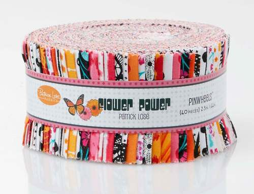 Flower Power Orange Pinwheel