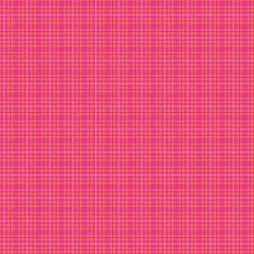 Warp & Weft Multi Plaid Hot Pink #6606Y/02