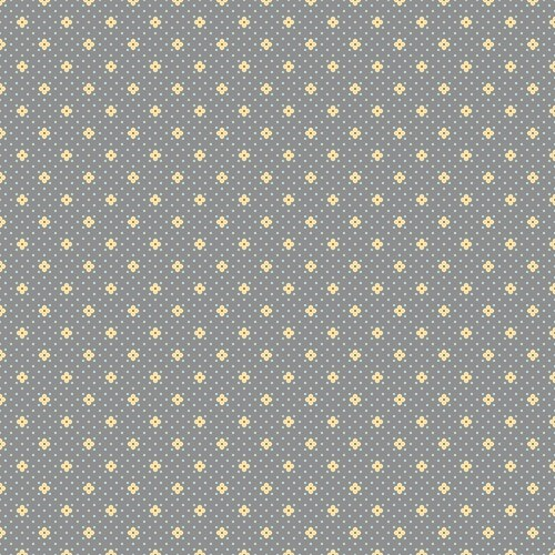 Bonnie Lane Tiny Flower Dots Grey Pearl