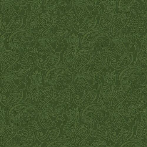 Lily Anne Tonal Dk Green Paisley