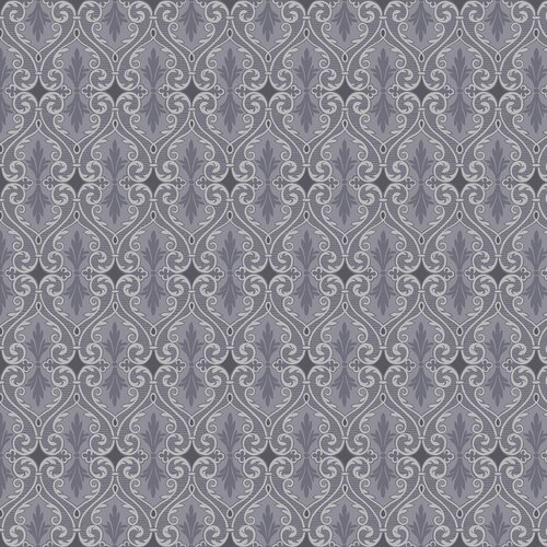 Totally Tulips Damask Pearlescent Dk Grey BEN-6736P/13