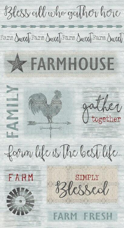 Farm Sweet Farm Farmhouse -  w/words