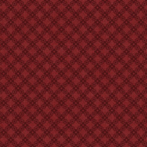FARM SWEET FARM DIAMOND LATTICE RED