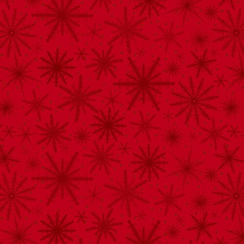 Holiday Wishes Snowflake Red