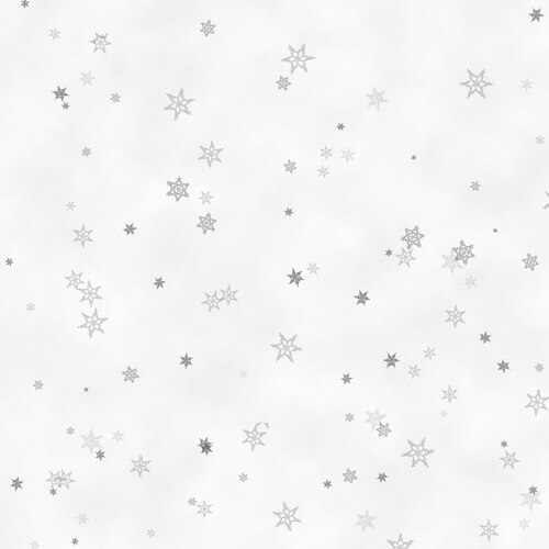 Holiday Wishes Tiny Snowflake Gray