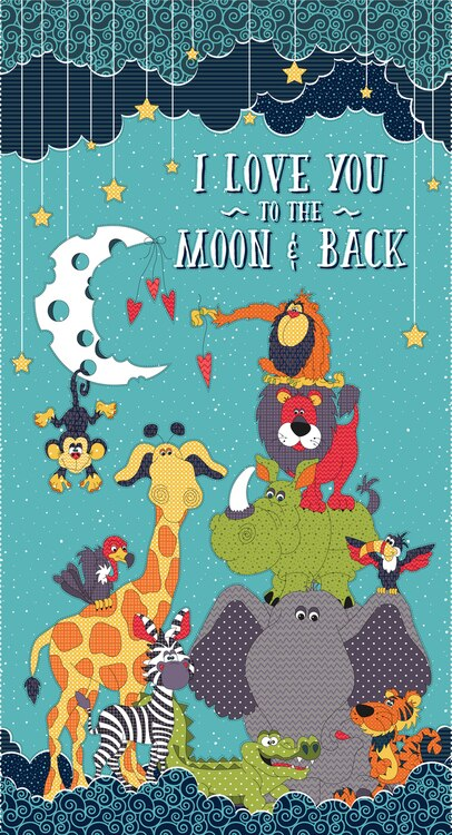 Moon And Back Book Panel  7150P-17