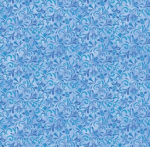 Awaken the Day Painterly Swirl Med. Blue 4814