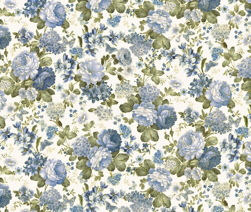 Kanvas Studio - Blue Symphony - Garden Cream - 7788M - 07