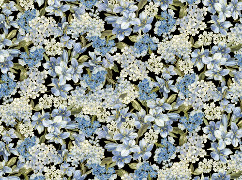 Kanvas Studio - Blue Symphony - Floral Black - 7792M - 12
