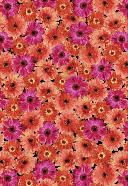 Blooming Beauty 17815-28 Flowers Coral/Pink