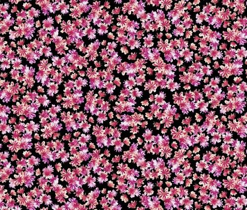 Blooming Beauty 17817-12 Flowers On Black