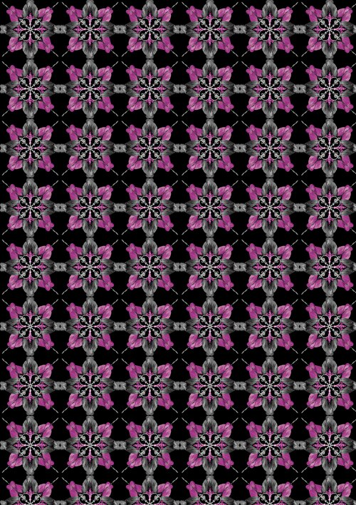 Blooming Beauty 17820-62 Floral Patch Black/Violet
