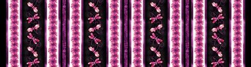 Blooming Beauty 17822-62 Border Stripe Black/Violet