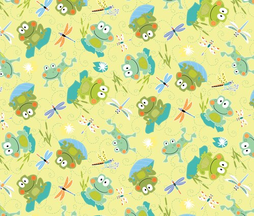 Toadily Cute Toads On Yellow