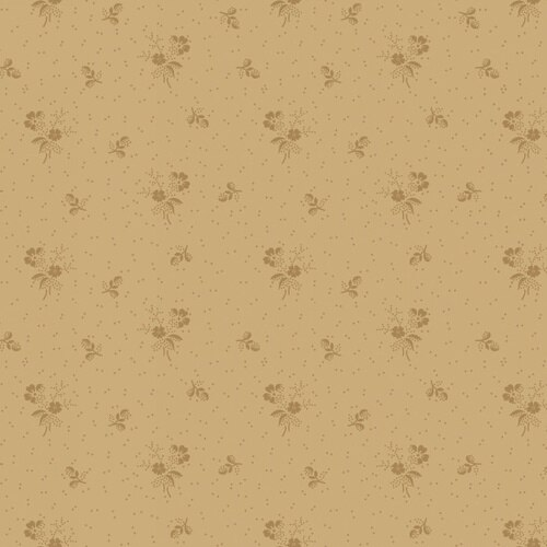 Linen Closet Tan Small Floral Bouquet